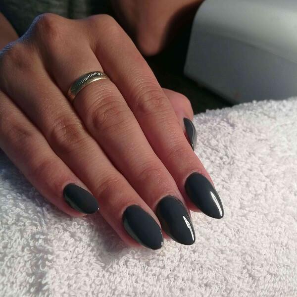 blue nail paint