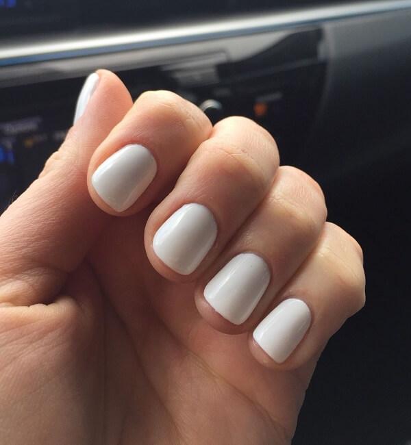 white nail paint