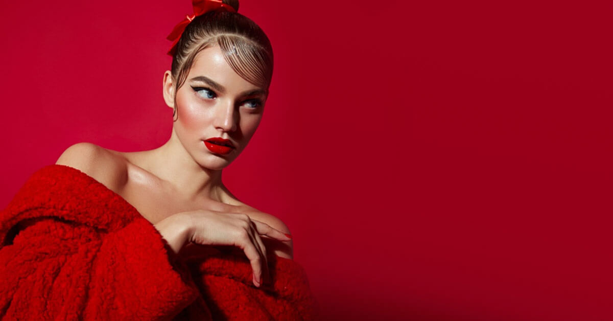eye makeup for red dresses