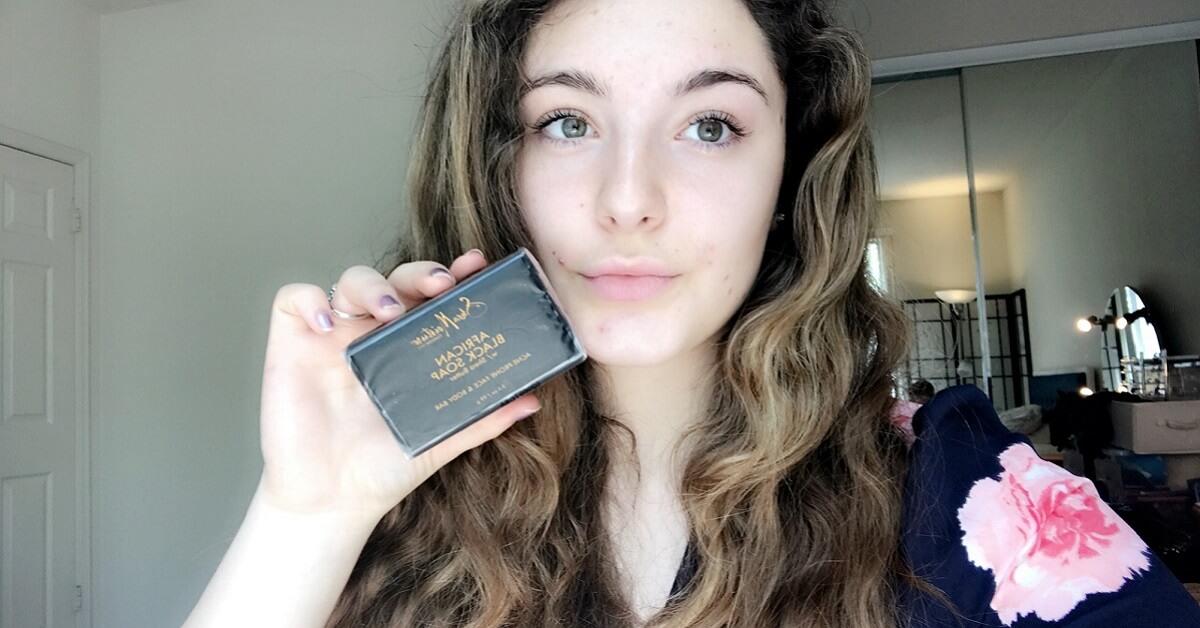 shea moisture black soap for acne