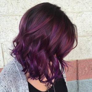 12 Eggplant hair shade