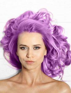 22. glossy purple color